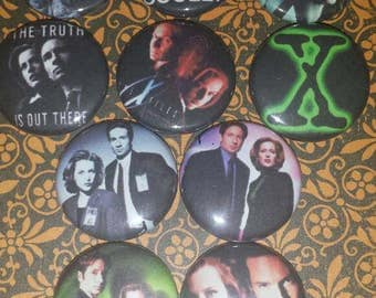 10 - 1 inch  xFiles Buttons