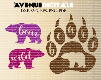 Bears Paw, SVG EPS DXF Cutting file, Cuttable Designs, Cutting Designs, Silhouette Cameo, Cricut, Cut Files