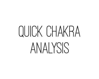 Quick Chakra Analysis