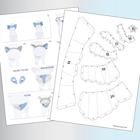 Papercraft Cats Couple Of Cats 2 Pdf Patterns Paper
