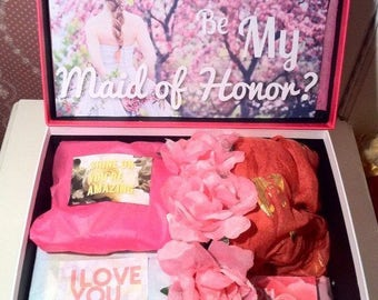 Maid of Honor Proposal Box. Will You Be My Maid of Honor? Maid of Honor YouAreBeautifulBox. Maid of Honor Gift. Maid of Honor Card. Wedding