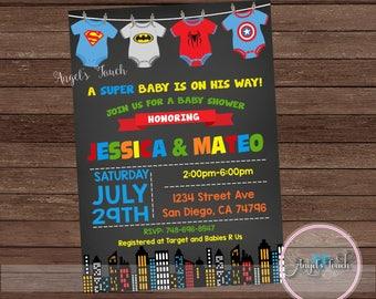 Superhero baby shower Etsy