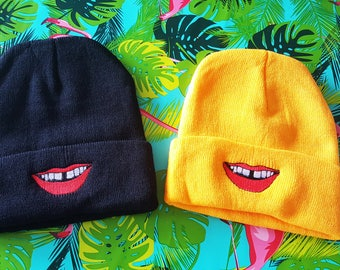 Mac Demarco tooth gap embroidered beanies