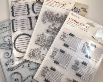 4 Sets Stampology/ Autumn Leaves brand Clear Stamps -- NEW --