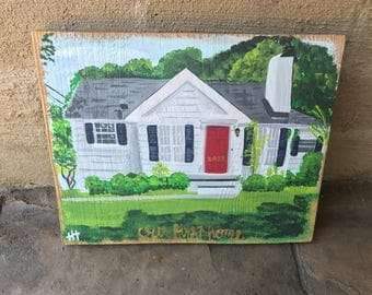 Custom House Painting, commission house art, home painting, house warming gift, our first home painting 8x10, 9x12, 11x14