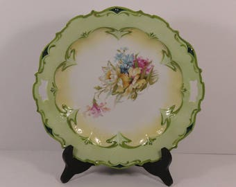 Vintage Royal Vienna Germany Two Handled Porcelain Plate/Bowl Accented with Gilt.