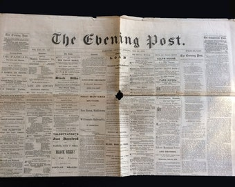5 issues -The Evening Post  Hartford CT Newspaper 1870