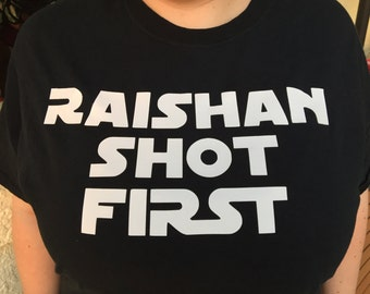 Critical Role T-shirt: RAISHAN SHOT FIRST!