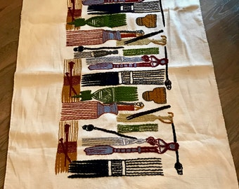 South African Hand Woven, Stitched Hair Comb Wall Hanging