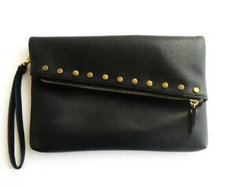 Black Cross Body Hand Bag Vegan Handbag Cross Body Pouch Shoulder Bag For Day/ Night Special Small Bag Gift For Her - Black Purse
