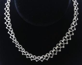 18K White Gold Necklace/Diamond- 1.55ct/Gold- 47.64 Grams