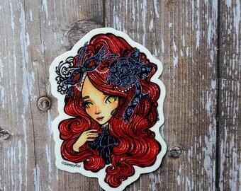 Goth Masquerade Ball 3 Inch Vinyl Sticker (Inspired by Goth Lolita Fashion Style)