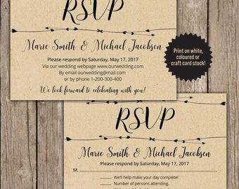 RSVP Postcard, RSVP template, RSVP wedding cards, rsvp digital card.