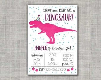 Dinosaur Invitation / Dinosaur Party / Dinosaur Birthday