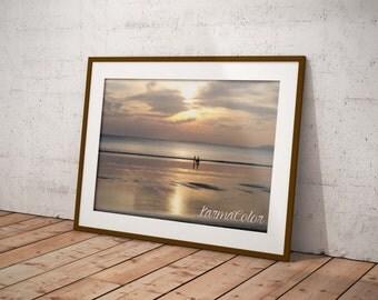 Sunset Beach photograph digital download, sunset beach digital download, digital art printable