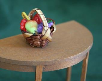 Miniature Basket of Fruit, Miniature Food