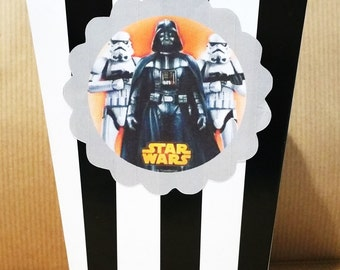 10 star wars themed popcorn boxes set