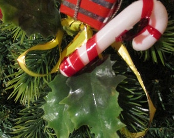 Vintage Candy Cane Christmas Tree Decoration