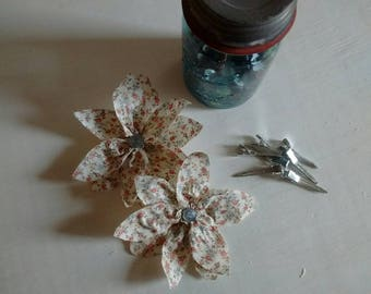 Fabric Flower Hairbows Hippie