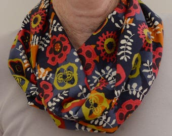Liberty of London Fabric Infinity Scarf Neck Scarf Geometric Floral