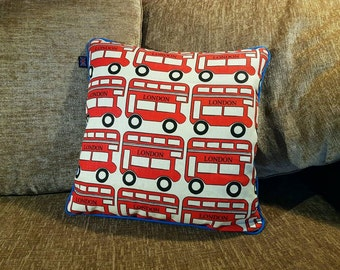 Kid's London Bus Cushion - 40x40cm London Transport, London Bus, Routemaster