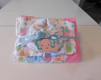 Baby Girl Receiving Blanket Gift Set