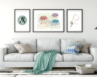 Printable Wall Art Set Of 3 Living Room Prints Instant Download