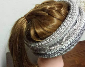 A ponytail hat, slouchy hat, and headband, all in one! This convertible hat is my favorite!