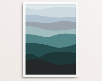 Ocean Print, Mountain Wall Art, Mountain Print, Ocean Wall Art, Mountain Landscape, Mountain Printable, Ocean Printable, Mountain Art Print