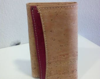Handmade  keychain wallet unisex with portuguese natural cork.