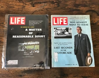 LIFE Magazines - History of JFK's Assassination - November 1966 & 1967