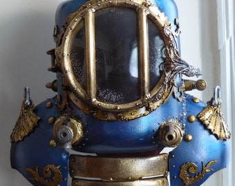 Nautilus inspired bathysphere diving helmet
