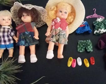 Vintage Doll Set - Remco, and other brand