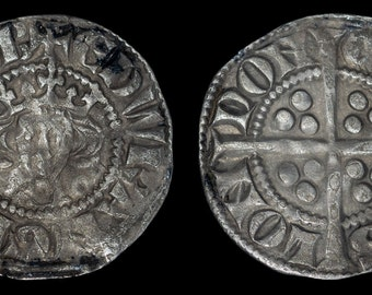 Medieval English Antique Coin Edward I Solid Silver London Penny 1272 - 1307, British, Genuine, Old