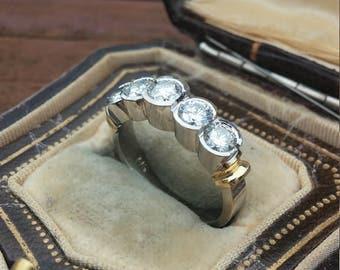 14k Gold 1.50ct Diamond Wedding Band