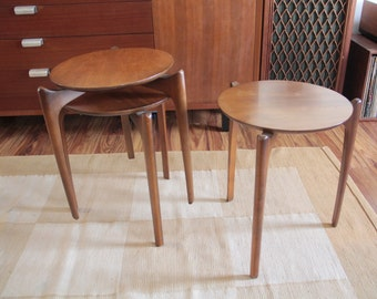 Vintage Adrian Pearsall for Craft Associates Stacking Tables 2496-ST