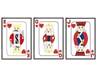 Illustration Posters Set - Poker Cards (Able to sell individually)