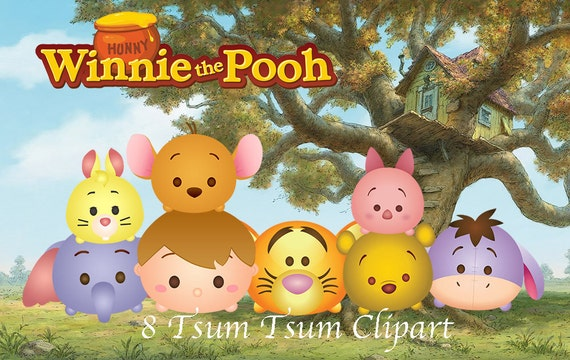 winnie the pooh tsum tsum  8 high resolution digital clipart