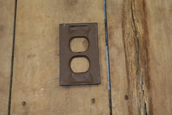 Cast Iron Plug Outlet Cover Plate From Libertyhomed On