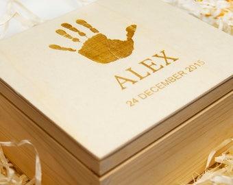 Personalized & Engraved Memorial Keepsake, Cristening Day Box/Memory Box