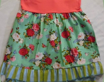 Girls Floral Boutique Outfit, Capri, Size 6X *** Sale ***