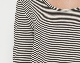 Striped black and white t-shirt