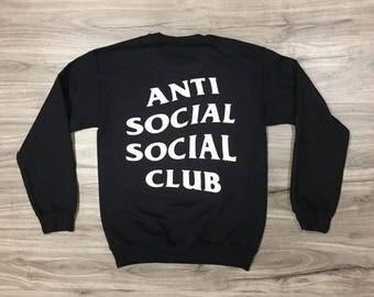 anti social social club sweater