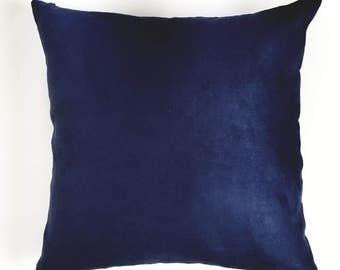 Navy Blue 100% Cotton Soft Pillow Cover, Decorative Pillow Cover, Soft Pillow Cover, Sofa Pillow