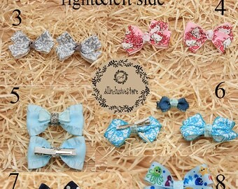 Personalizid hair clips, gerl ,Infant Hair Clips, Toddler Hair Clips,Baby Bow Clips,Baby Hair Clips,Baby Hair Bow,