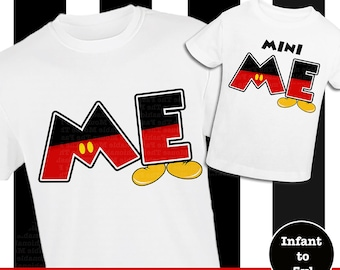 Daddy And Me Disney Shirts, Mommy and Me Disney Shirts, Disney Dad And Son Shirts, Mickey Shirts, Matching Mickey Shirts