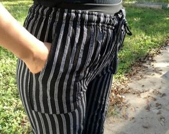 Black chef hippie pants from Ecuador