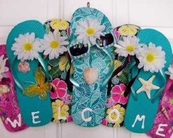 Yellow Flip Flop Door Hanger