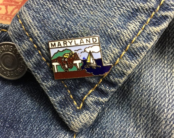 Vintage Maryland State Travel Lapel Pin (stock# T03)