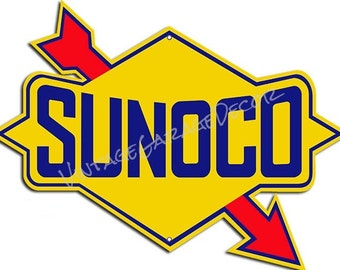 "Reproduction of a "" Sunoco "" Service-Station Advertising Metal Sign"